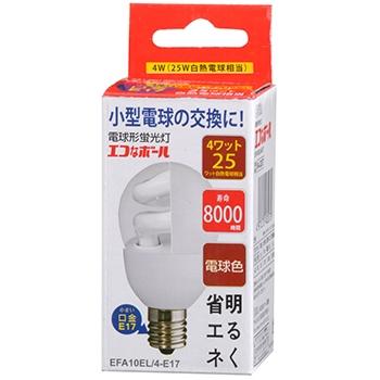 電球形蛍光灯 E17 25形相当 電球色 エコなボール [品番]04-3207