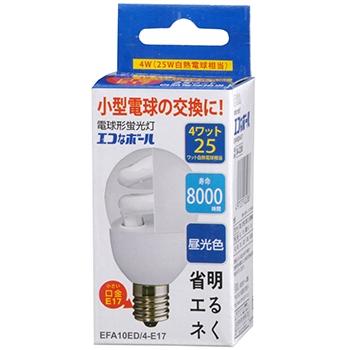 電球形蛍光灯 E17 25形相当 昼光色 エコなボール [品番]04-3208