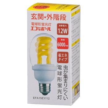 電球形蛍光灯 スパイラル形 E26 60形相当 低誘虫タイプ [品番]04-8360