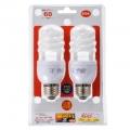 電球形蛍光灯 スパイラル形 E26 60形相当 電球色 エコなボール 2個入 [品番]04-9912