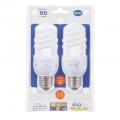 電球形蛍光灯 エコなボール スパイラル形 E17 25形相当 昼光色 2個入 [品番]04-9913