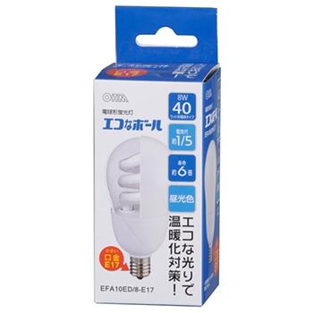 電球形蛍光灯 E17 40形相当 昼光色 エコなボール [品番]04-9969