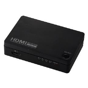 4ポート HDMIセレクター 黒 [品番]05-0310