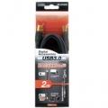 USB3.0ケーブル 2m 黒 [品番]05-1516