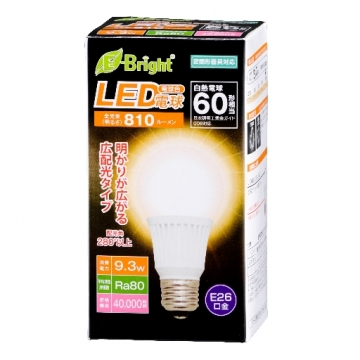 LED電球 E26 60形相当 電球色 [品番]06-2884