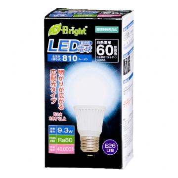 LED電球 E26 60形相当 昼光色 [品番]06-2885