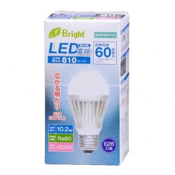 LED電球 一般電球形 60形相当 E26 昼光色 [品番]06-2932