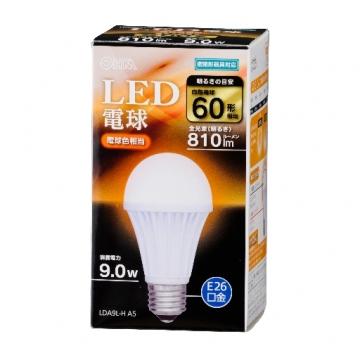 LED電球 E26 60形相当 電球色 [品番]06-3093