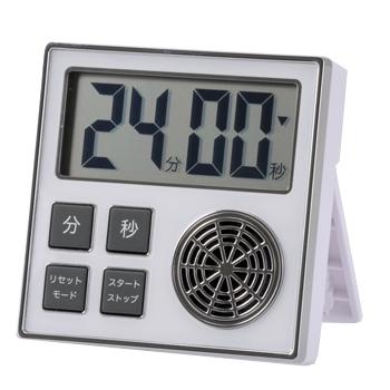 時計機能付き お知らせタイマー ホワイト [品番]07-1588