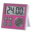 時計機能付き お知らせタイマー ピンク [品番]07-1589