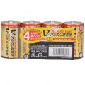アルカリ乾電池 Vシリーズ 単1形×4本パック [品番]07-2881