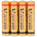 アルカリ乾電池 Vシリーズ 単4形×4本パック [品番]07-2884