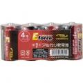 アルカリ乾電池 E force 単1形×4本パック [品番]07-2931