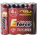 アルカリ乾電池 E force 単3形×4本パック [品番]07-2933