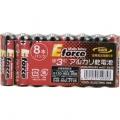 アルカリ乾電池 E force 単3形×8本パック [品番]07-2935