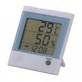 時計付きデジタル温湿度計 [品番]07-4438