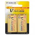 アルカリ乾電池 Vシリーズ 9V形 2本パック [品番]07-6337