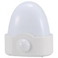 LEDセンサーライト 人感・明暗 ホワイト 電球色LED [品番]07-7867