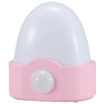LEDセンサーライト 人感・明暗 ピンク 白色LED [品番]07-7868