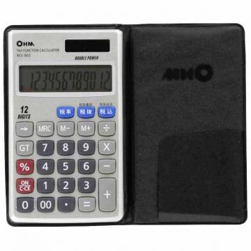 2電源 税計算機能付 電卓 [品番]07-7983