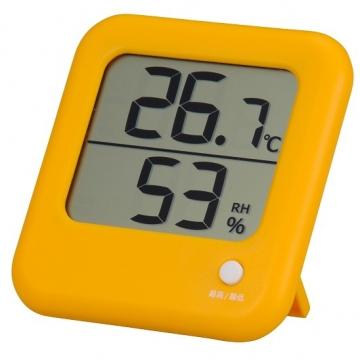 デジタル温湿度計 オレンジ [品番]08-0023