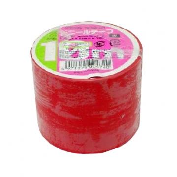 ビニールテープ 幅5cm×長さ10m 赤 [品番]00-0474