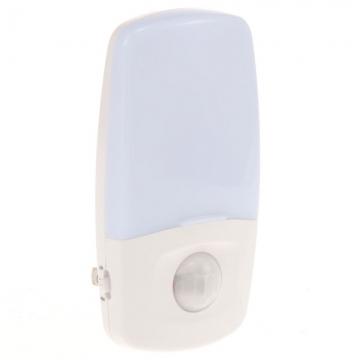 LEDナイトライト 人感・明暗センサー ナツメ球付 白色LED [品番]04-0317