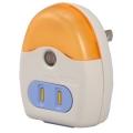 LEDナイトライト 明暗センサー コンセント付 オレンジ 黄色LED [品番]04-0360