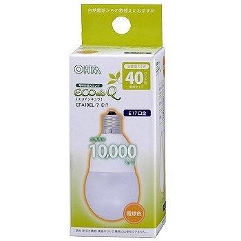 電球形蛍光灯 E17 40形相当 電球色 エコデンキュウ [品番]04-2109