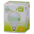 電球形蛍光灯 ボール形 E26 60形相当 電球色 エコデンキュウ [品番]04-3090