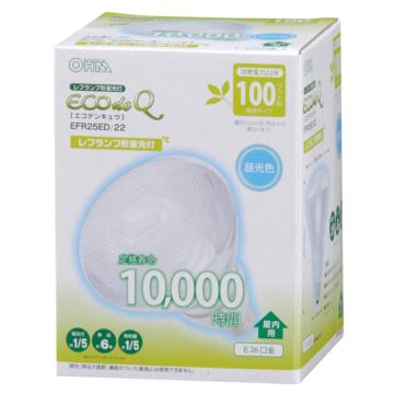 電球形蛍光灯 レフランプ形 E26 100形相当 昼光色 エコデンキュウ [品番]04-3271