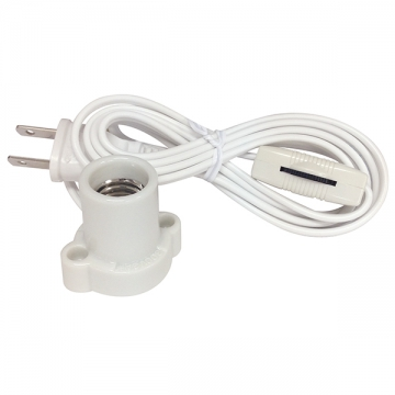 コード付レセップ スイッチ付 E17白 [品番]04-5203