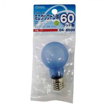 ミニクリプトン球 60形相当 PS-35 バルーン E17 ブルー [品番]04-6500