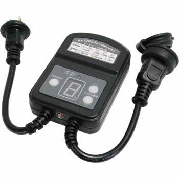 防雨型光センサースイッチ タイマー付き 1200W [品番]04-8007