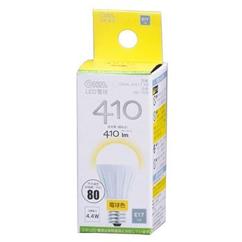 LED電球 小形 40形相当 E17 電球色 [品番]06-1329