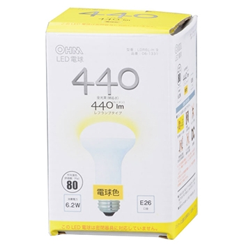 LED電球 レフランプ形 LED電球 E26 6.2W 電球色 [品番]06-1331