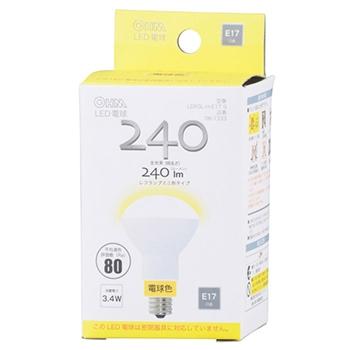 LED電球 ミニレフランプ形 E17 3.4W 電球色 [品番]06-1333