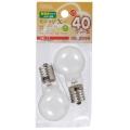 ミニクリプトン球 40形相当 PS-35 E17 ホワイト 2個入 [品番]06-2596