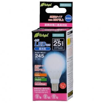 LED電球 小形 E17 25形相当 昼光色 [品番]06-2877