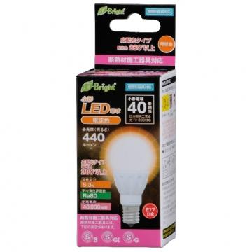 LED電球 小形 E17 40形相当 電球色 [品番]06-2878