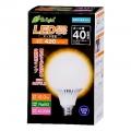 LED電球 ボール形 40形相当 E26 電球色 [品番]06-2933