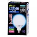 LED電球 ボール電球形 60形相当 E26 昼光色 [品番]06-2936
