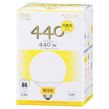 LED電球 ボール形 40形相当 E26 電球色 [品番]06-3045