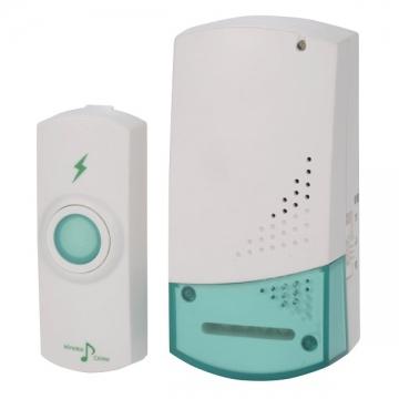 ワイヤレスチャイム コンセント式受信機+押しボタン送信機 [品番]07-6360