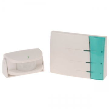 ワイヤレスチャイム 電池式受信機+赤外線センサー送信機 [品番]07-6365