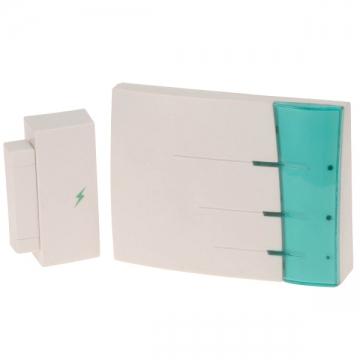 ワイヤレスチャイム 電池式受信機+扉センサー送信機 [品番]07-6367