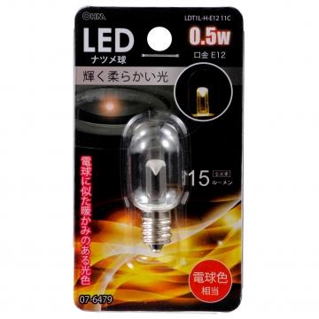 LEDナツメ球 常夜灯 E12 電球色 [品番]07-6479