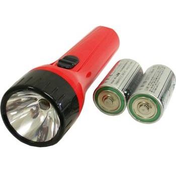懐中ライト 単1電池 2本付 [品番]07-7401