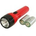 乾電池付き懐中ライト 単2形×2本付属 [品番]07-7402