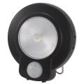 LEDセンサーライト 人感・明暗 ブラック 白色LED [品番]07-9755
